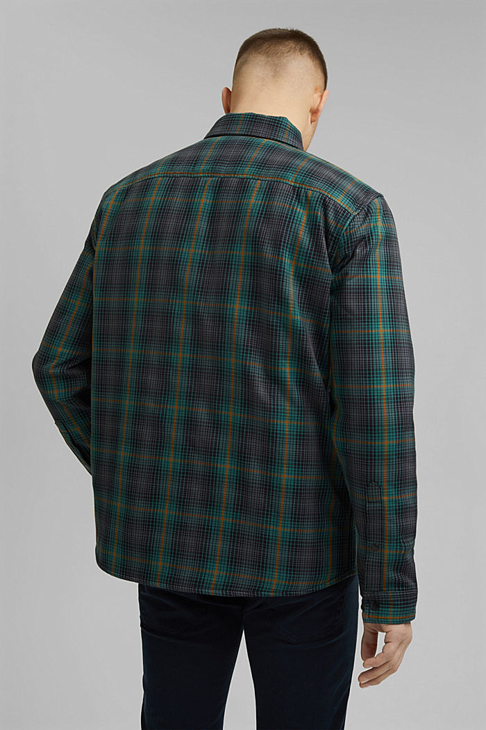 Lightly padded overshirt made of organic cotton, DARK TEAL GREEN, detail image number 3