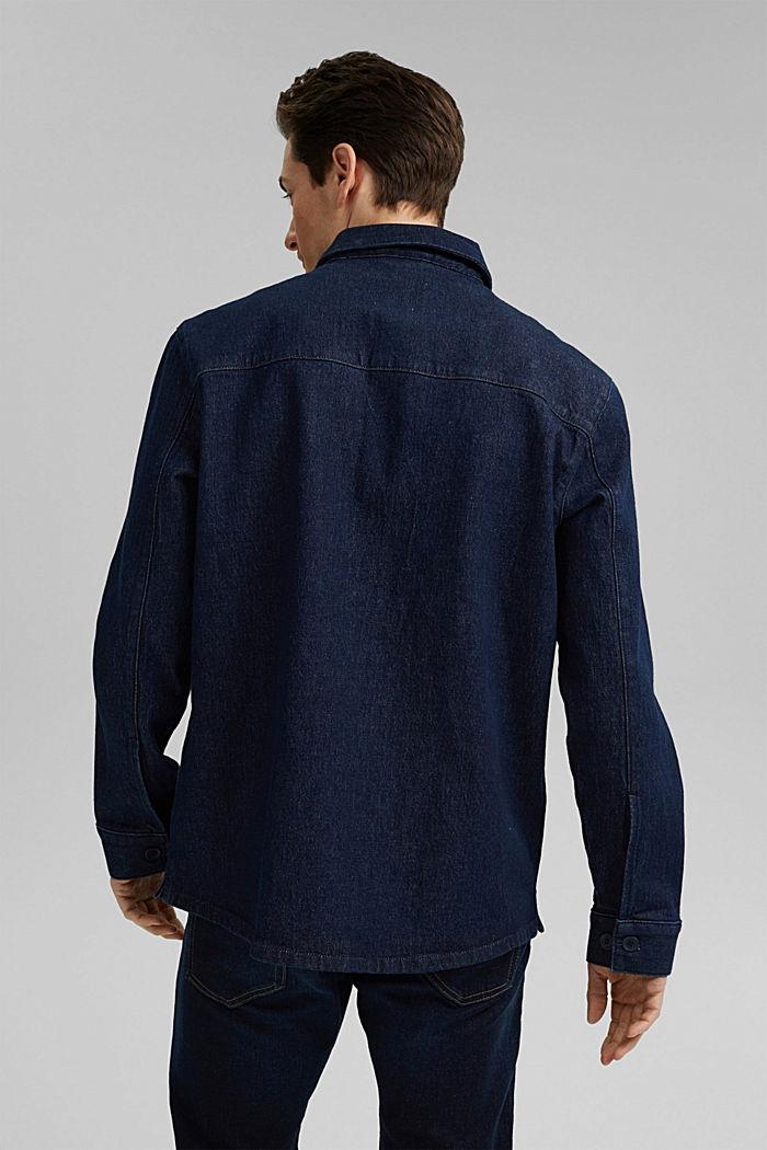 Jeans-Hemd aus robustem Baumwoll-Denim, BLUE DARK WASHED, detail image number 3