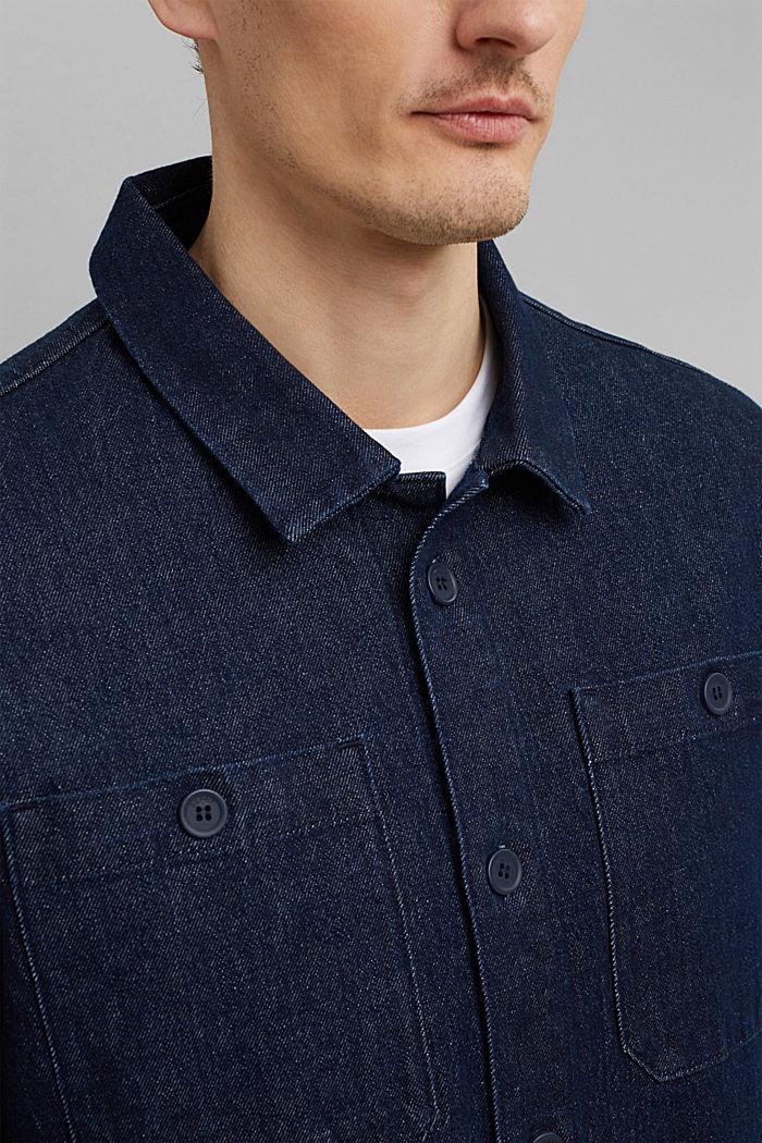 Jeans-Hemd aus robustem Baumwoll-Denim, BLUE DARK WASHED, detail image number 2