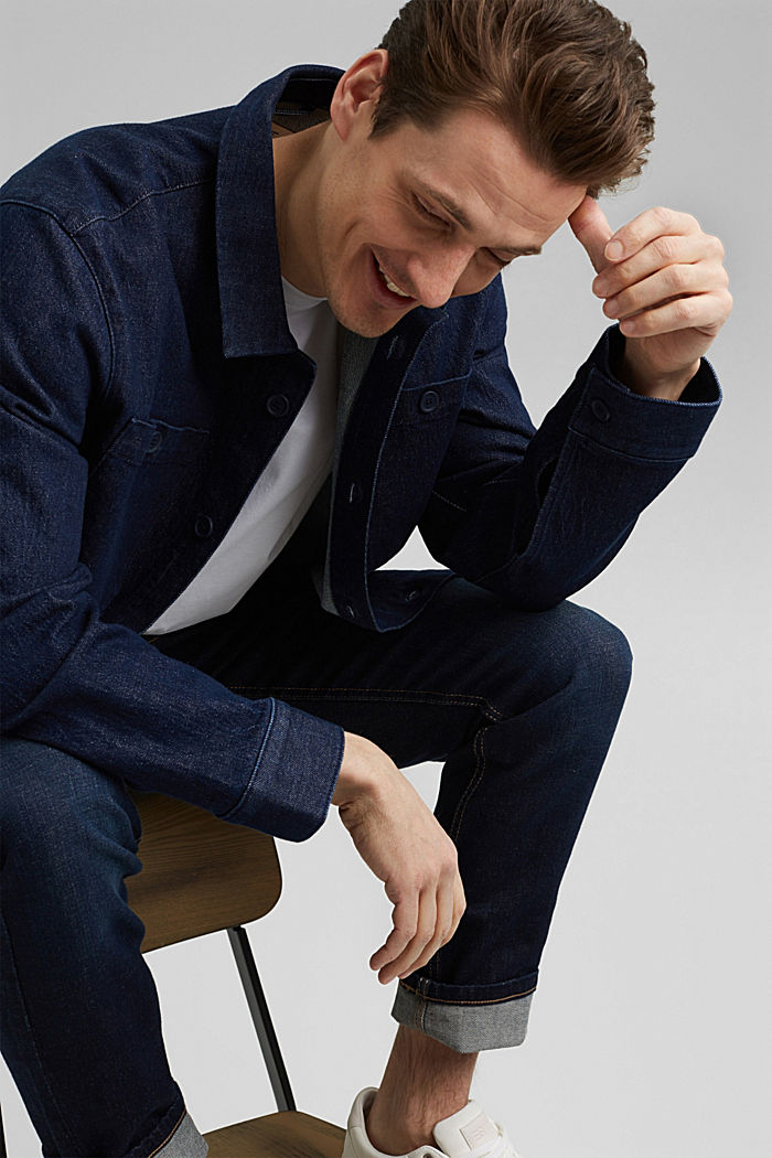 Jeans-Hemd aus robustem Baumwoll-Denim