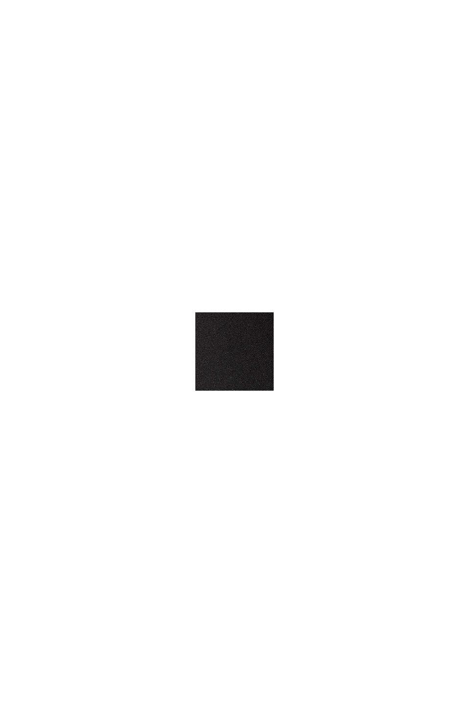Gerecycled: jas in bomberstijl, BLACK, swatch