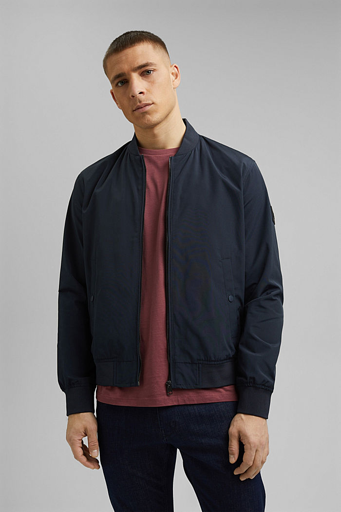 Recycled: bomber jacket, NAVY, detail image number 0