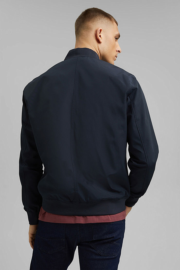 Recycled: bomber jacket, NAVY, detail image number 3