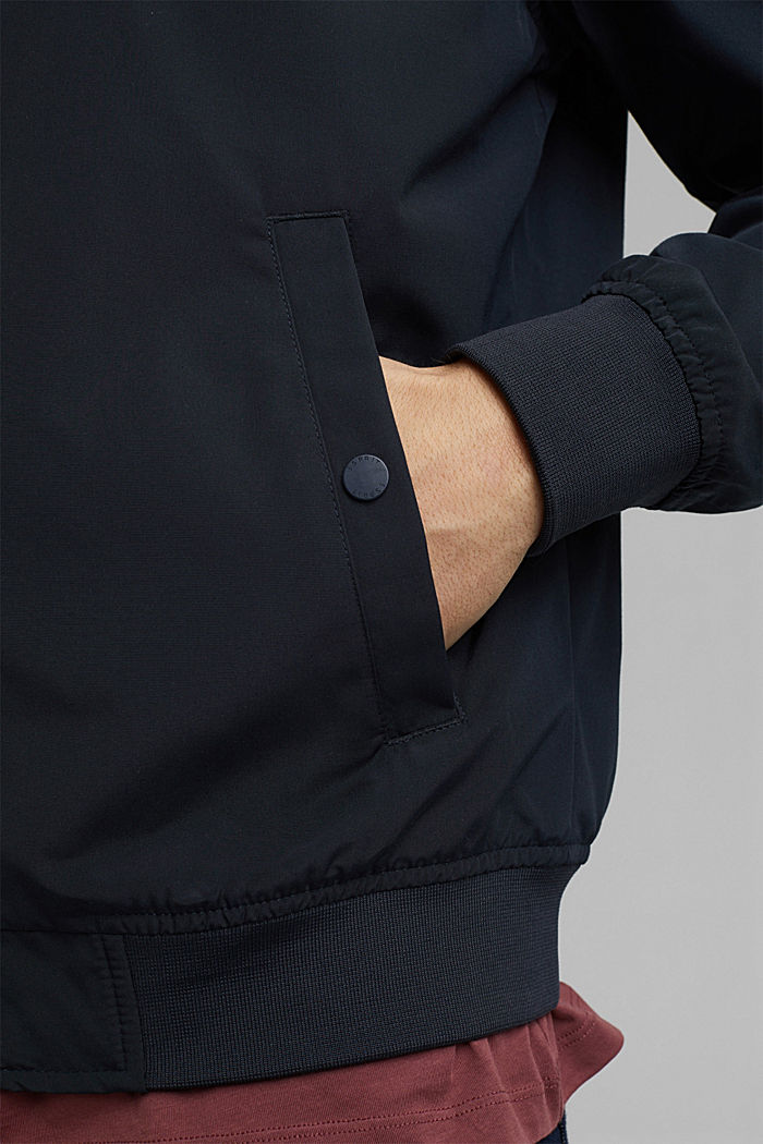 Recycled: bomber jacket, NAVY, detail image number 2