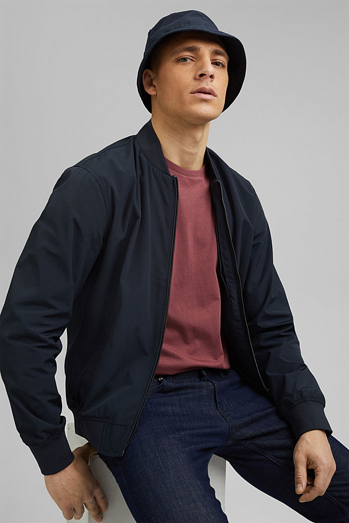 Recycled: bomber jacket, NAVY, detail image number 6