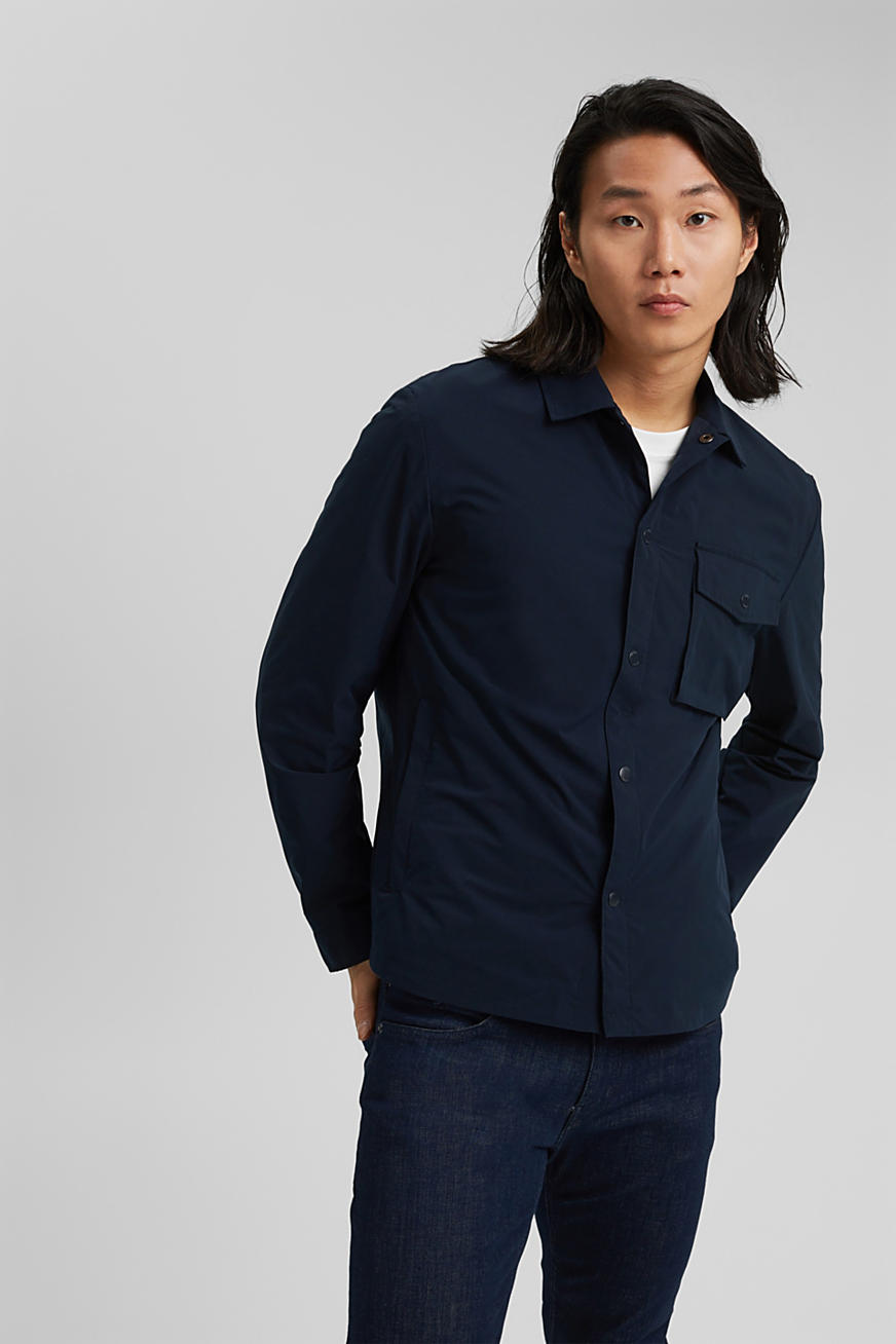 On the move: breathable overshirt