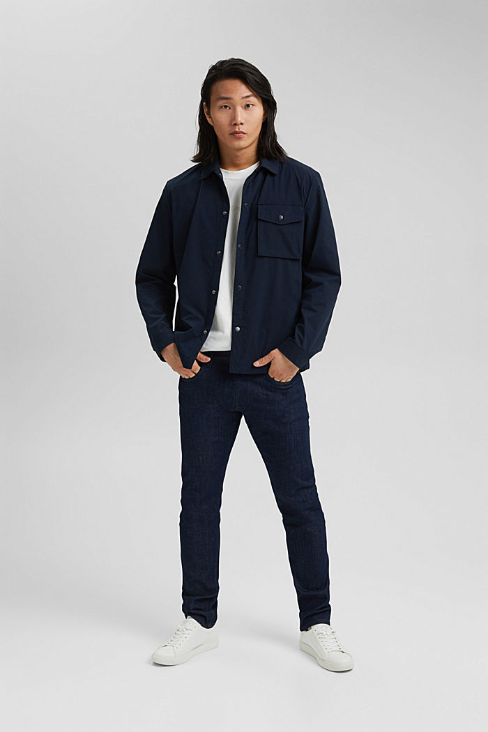 On the move: atmungsaktives Overshirt, DARK BLUE, detail image number 1