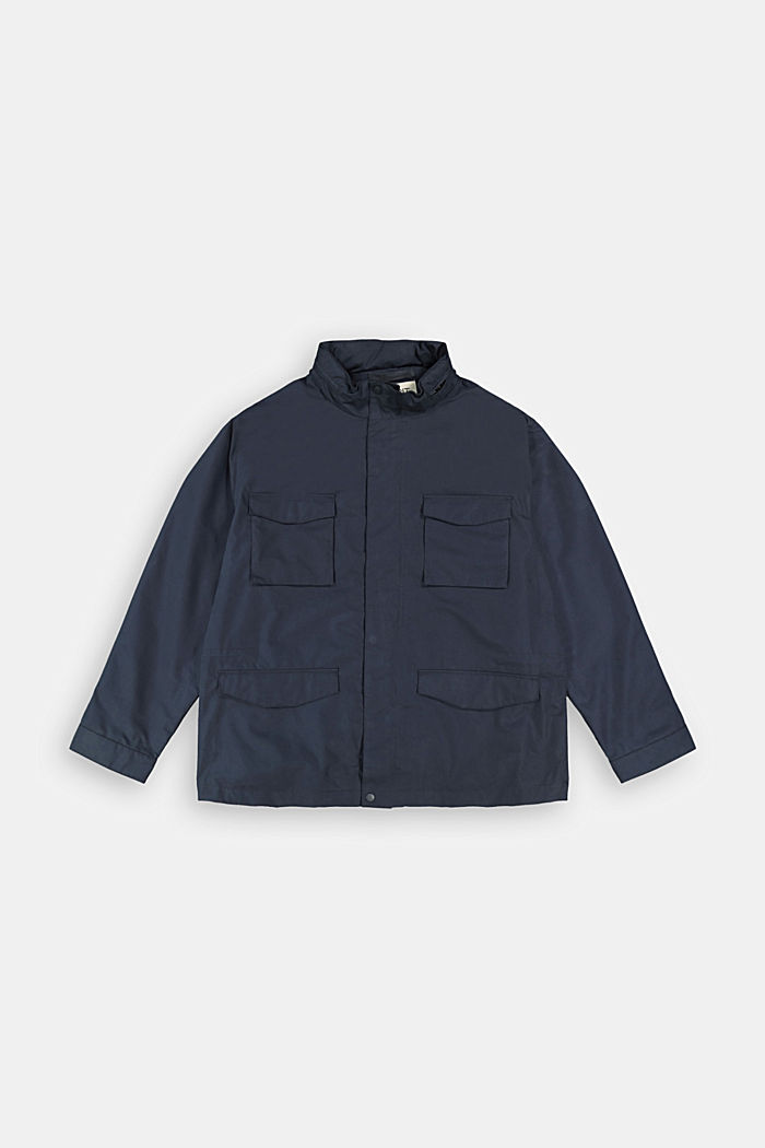 Recycled: Weatherproof field jacket, DARK BLUE, detail image number 1