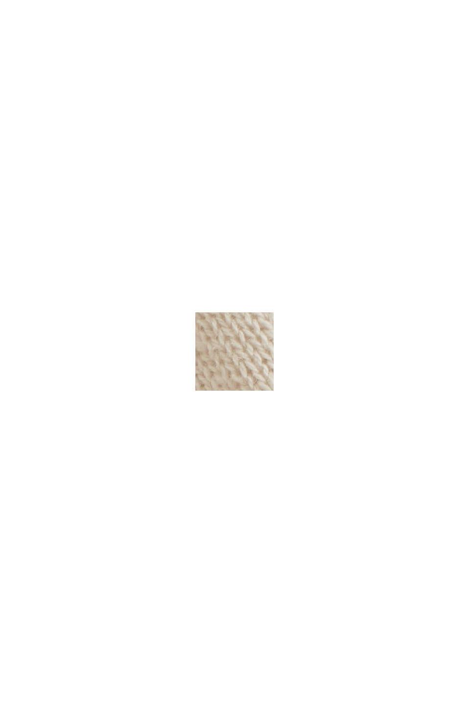Linnen/biologisch katoen: trui met strepen, BEIGE, swatch
