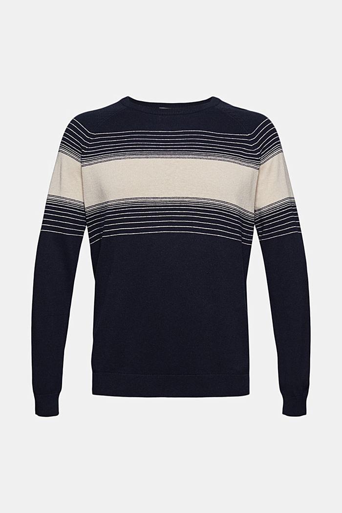 Linen/organic cotton: striped jumper, NAVY, detail image number 5