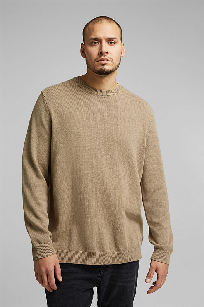 Made of blended linen: jumper with organic cotton