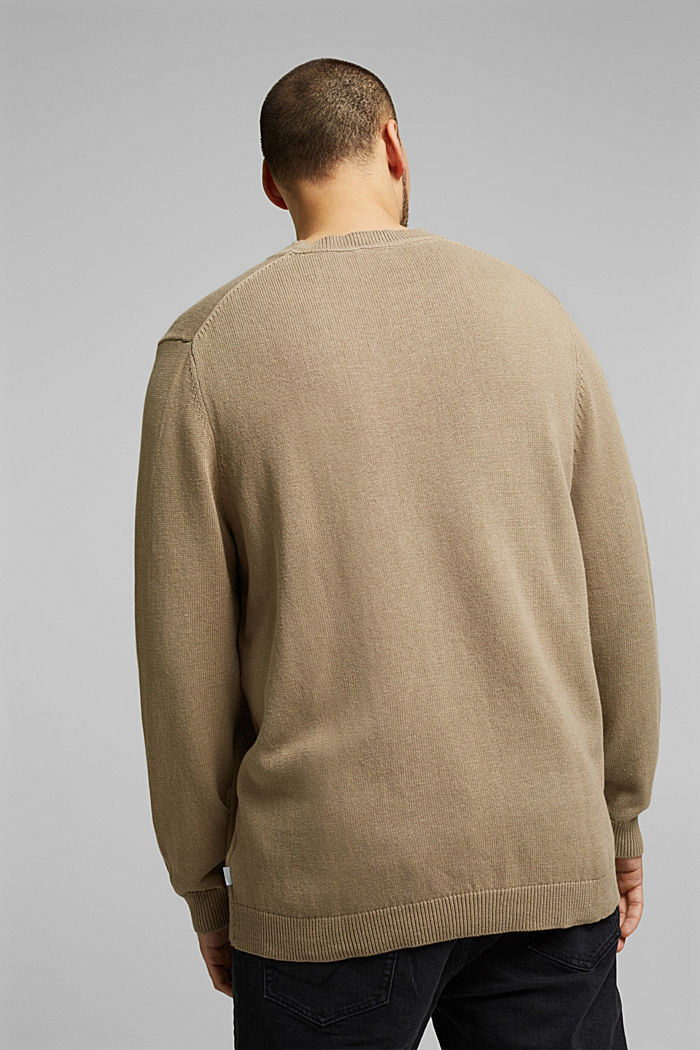 Made of blended linen: jumper with organic cotton, BEIGE, detail image number 2