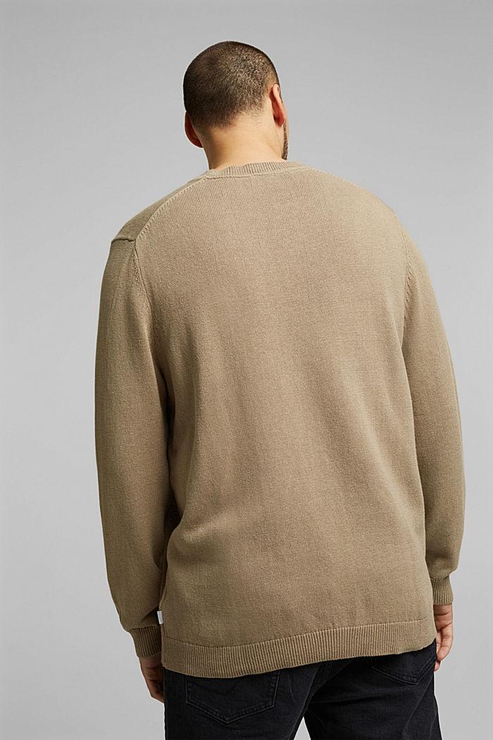 Aus Leinen-Mix: Pullover mit Organic Cotton, BEIGE, detail image number 2
