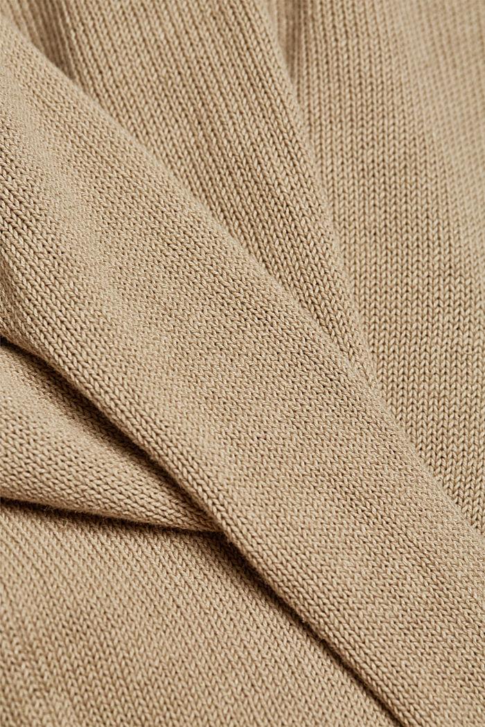 Aus Leinen-Mix: Pullover mit Organic Cotton, BEIGE, detail image number 3
