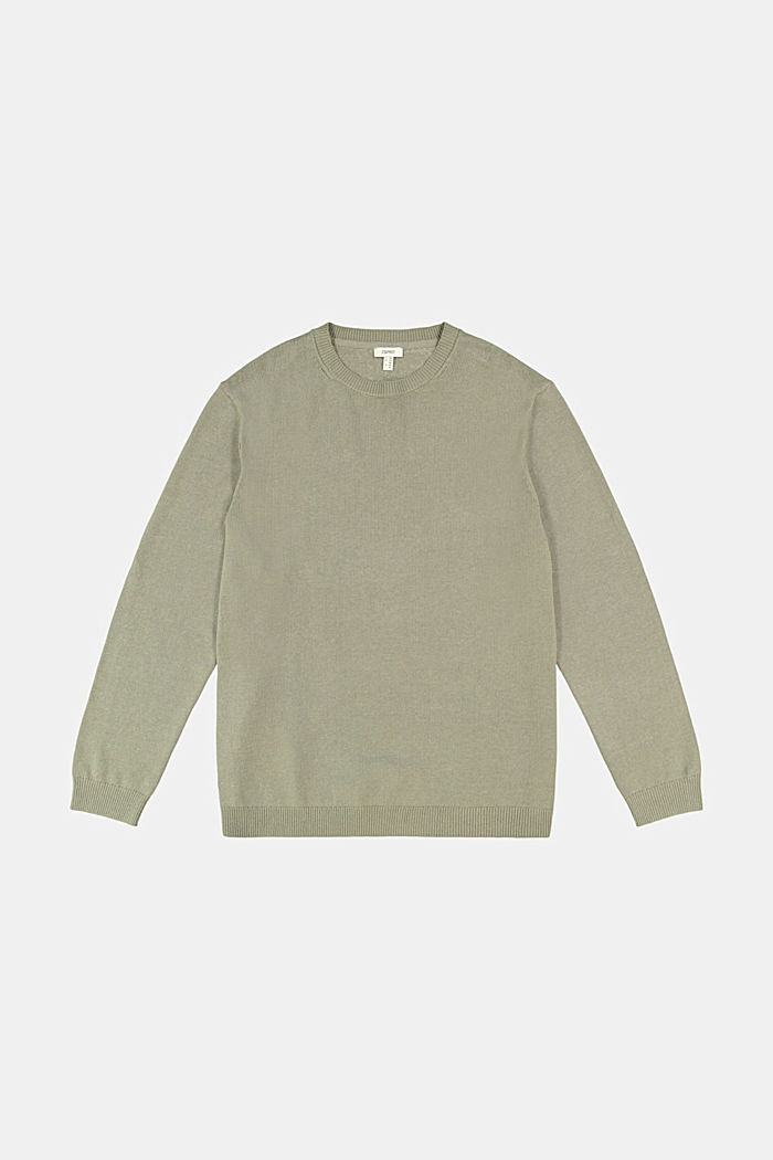 Made of blended linen: jumper with organic cotton, LIGHT KHAKI, detail image number 4