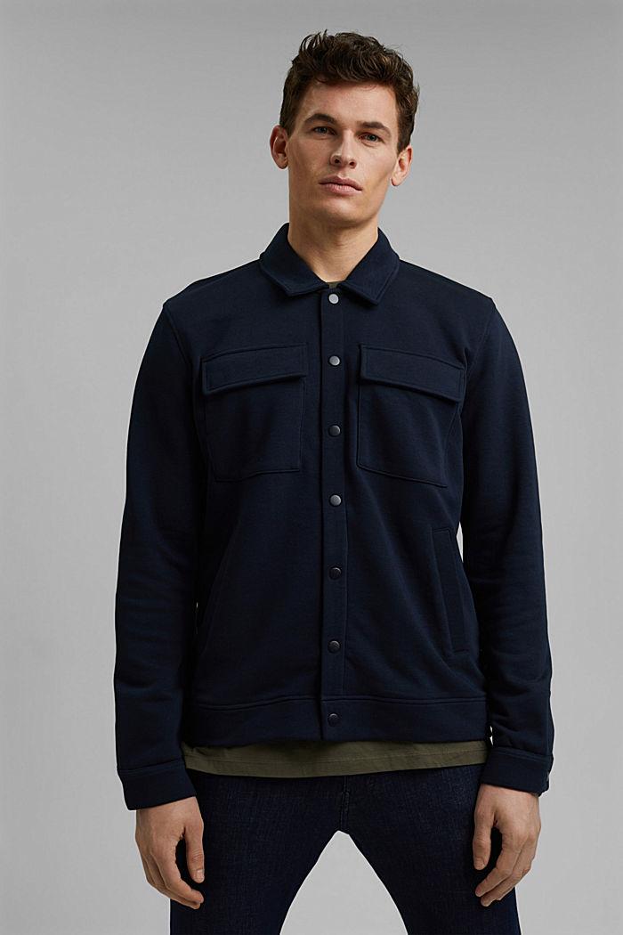 #ReimagineFlexibility: Overshirt, Organic Cotton, NAVY, detail image number 0