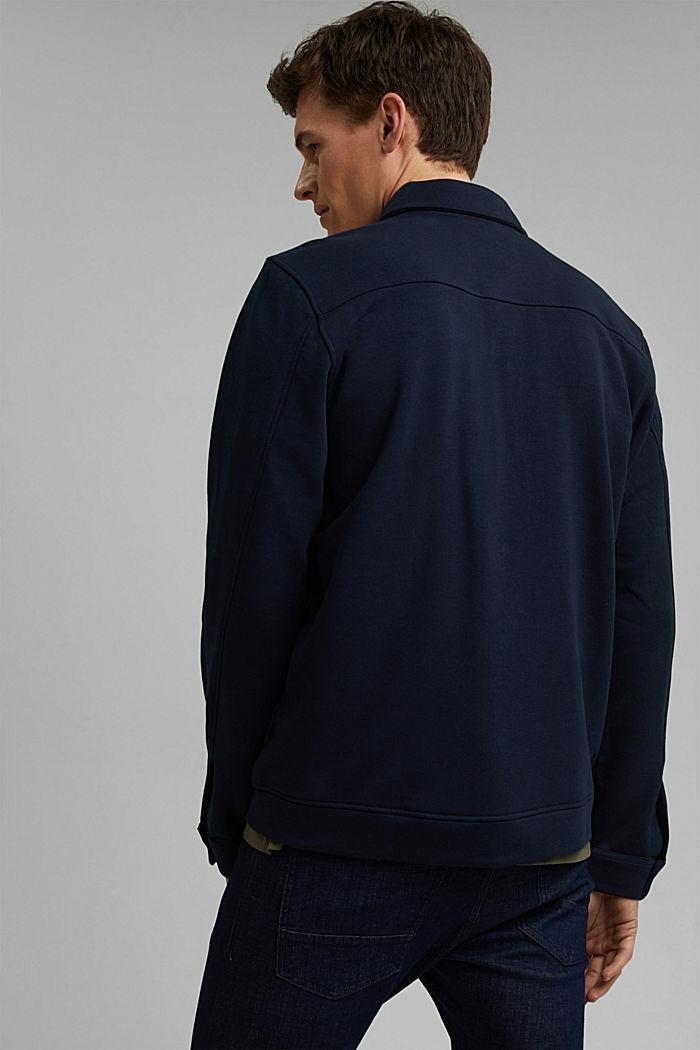 #ReimagineFlexibility: Overshirt, Organic Cotton, NAVY, detail image number 3