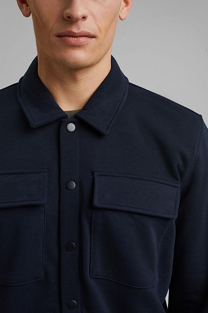 #ReimagineFlexibility: Overshirt, Organic Cotton, NAVY, detail image number 2