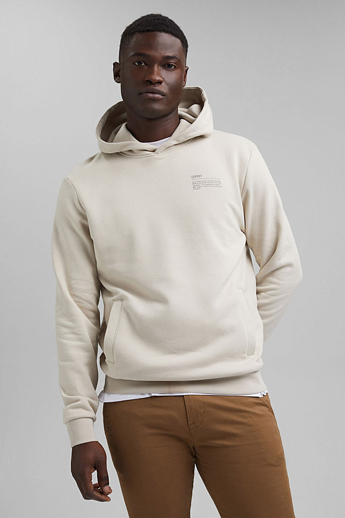 Recycelt: Hoodie mit Organic Cotton, LIGHT BEIGE, detail image number 0
