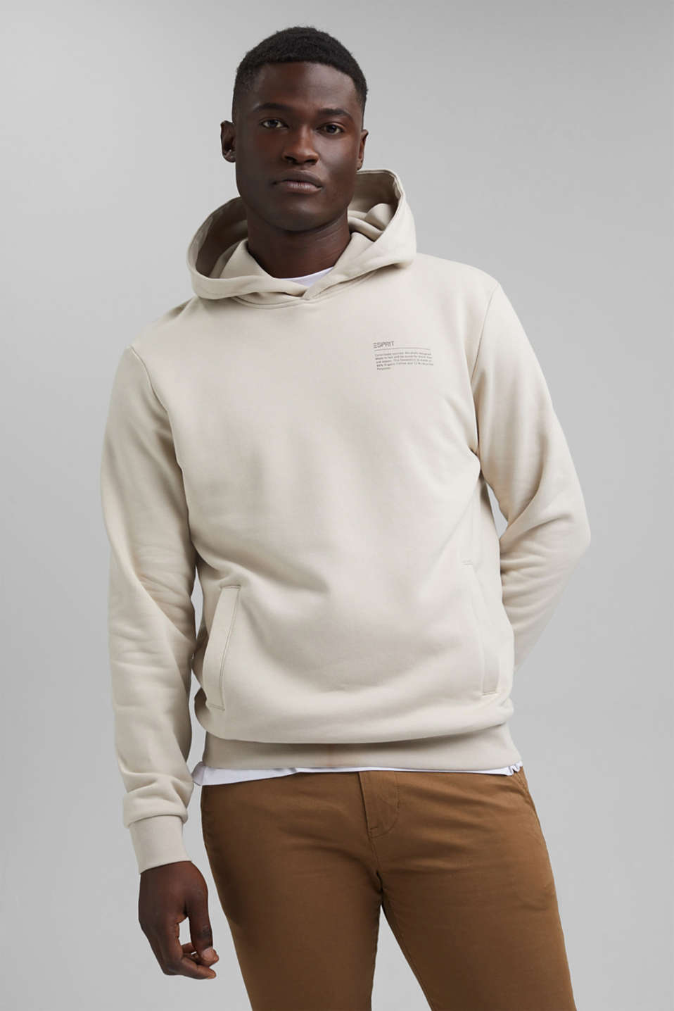 Esprit - Recycled: hoodie containing organic cotton