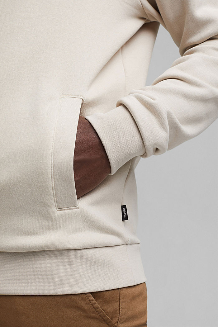 Recycelt: Hoodie mit Organic Cotton, LIGHT BEIGE, detail image number 7