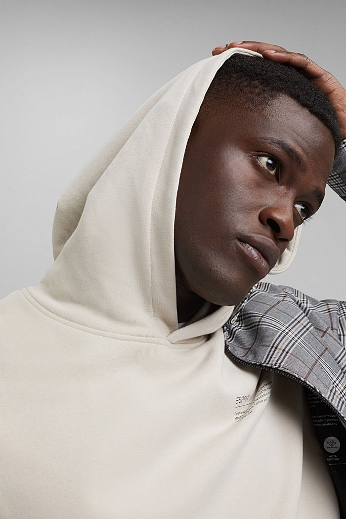 Recycled: hoodie containing organic cotton, LIGHT BEIGE, detail image number 6