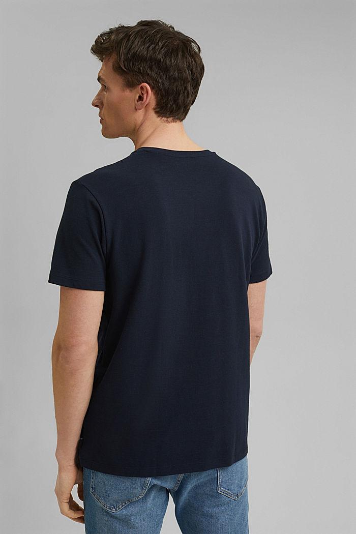 Piquè-T-Shirt aus 100% Bio-Baumwolle, NAVY, detail image number 3