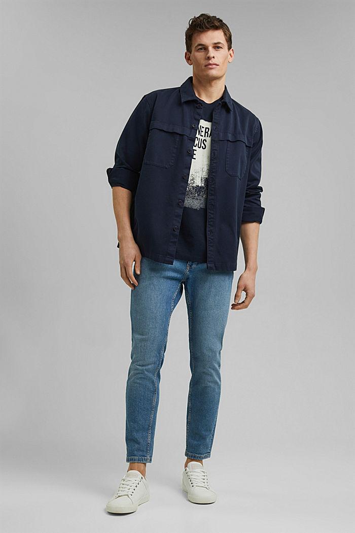Piquè-T-Shirt aus 100% Bio-Baumwolle, NAVY, detail image number 2