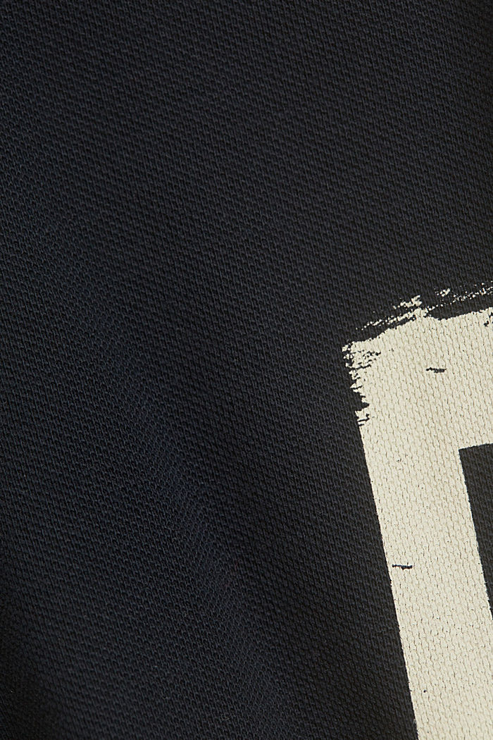 Piqué T-shirt made of 100% organic cotton, NAVY, detail image number 4
