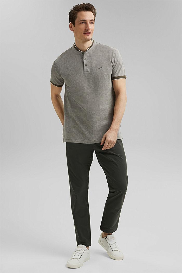 Piqué polo shirt made of 100% organic cotton, DARK KHAKI, detail image number 6