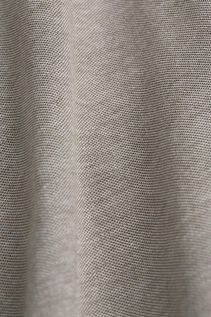 Piqué polo shirt made of 100% organic cotton, DARK KHAKI, detail image number 4