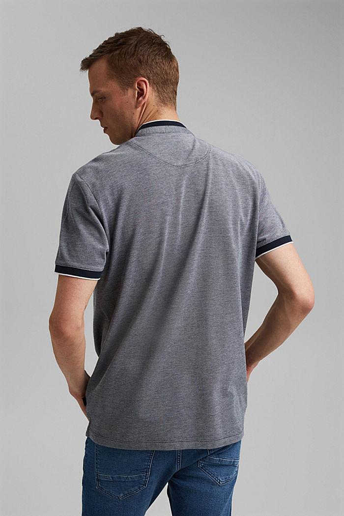 Piqué-Poloshirt aus 100% Organic Cotton, NAVY, detail image number 3