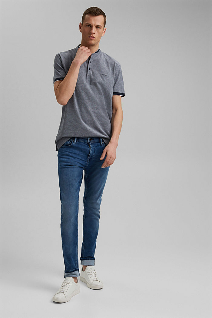Piqué polo shirt made of 100% organic cotton, NAVY, detail image number 2