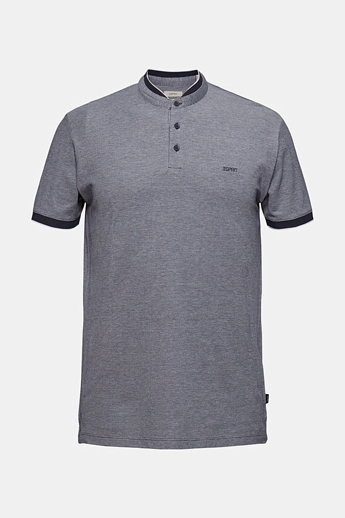 Piqué polo shirt made of 100% organic cotton, NAVY, detail image number 6