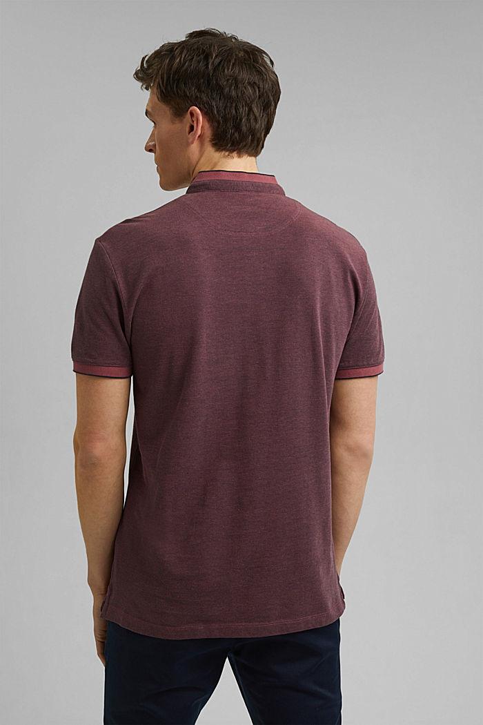 Koszulka polo z piki, 100% bawełny ekologicznej, BERRY RED, detail image number 3