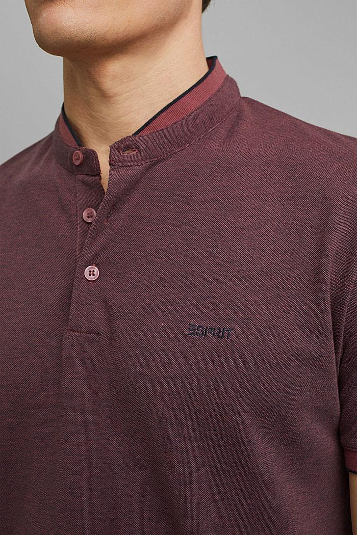 Koszulka polo z piki, 100% bawełny ekologicznej, BERRY RED, detail image number 1