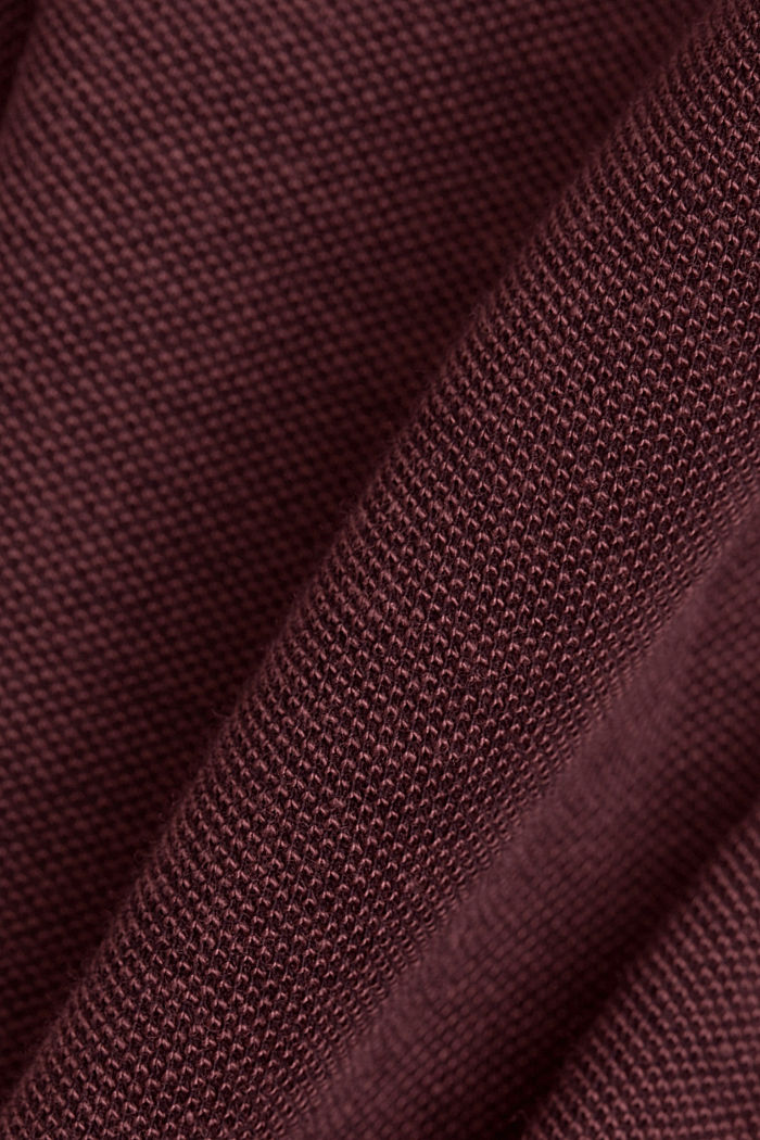 Piqué polo shirt made of 100% organic cotton, BERRY RED, detail image number 4