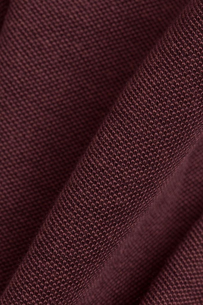 Koszulka polo z piki, 100% bawełny ekologicznej, BERRY RED, detail image number 4