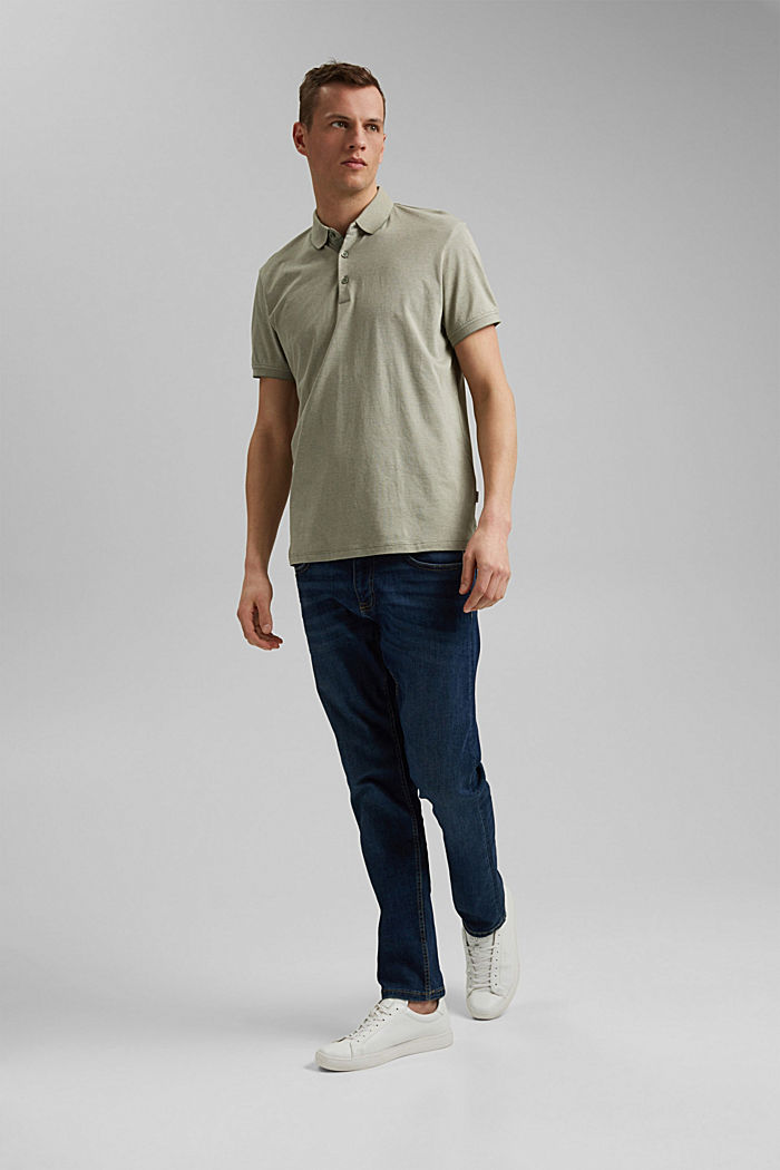Jersey polo shirt made of 100% organic cotton, LIGHT KHAKI, detail image number 2