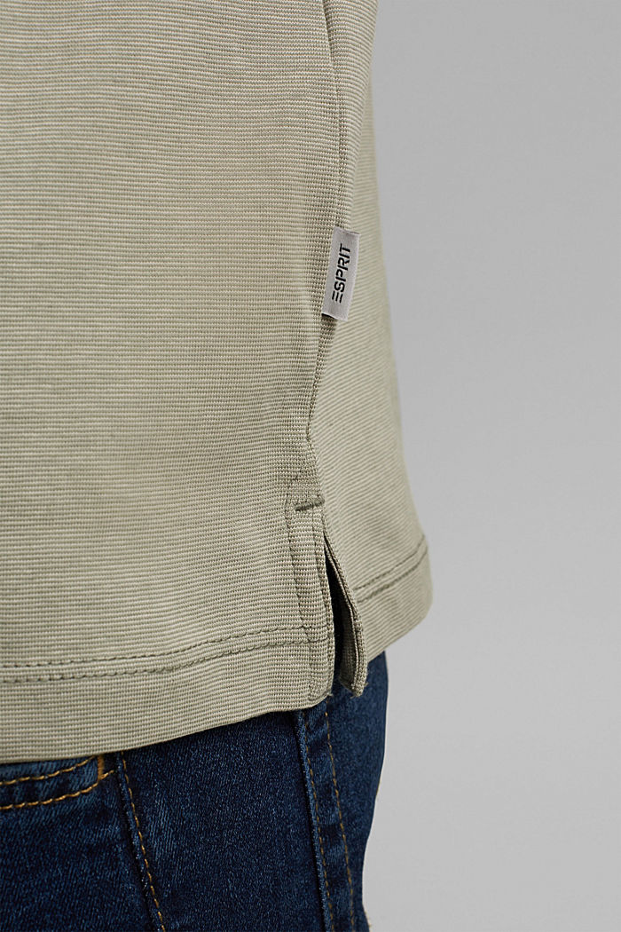 Jersey polo shirt made of 100% organic cotton, LIGHT KHAKI, detail image number 5