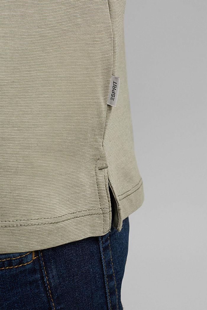 Polo en jersey, 100% coton bio, LIGHT KHAKI, detail image number 5