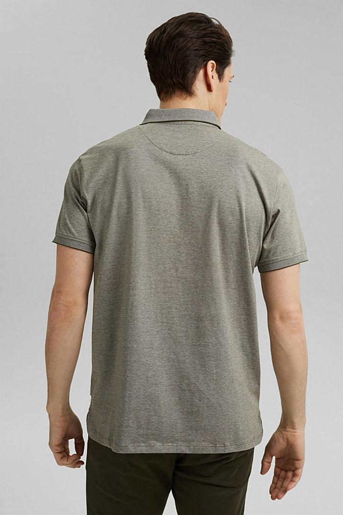Jersey-Poloshirt aus 100% Organic Cotton, DARK KHAKI, detail image number 3