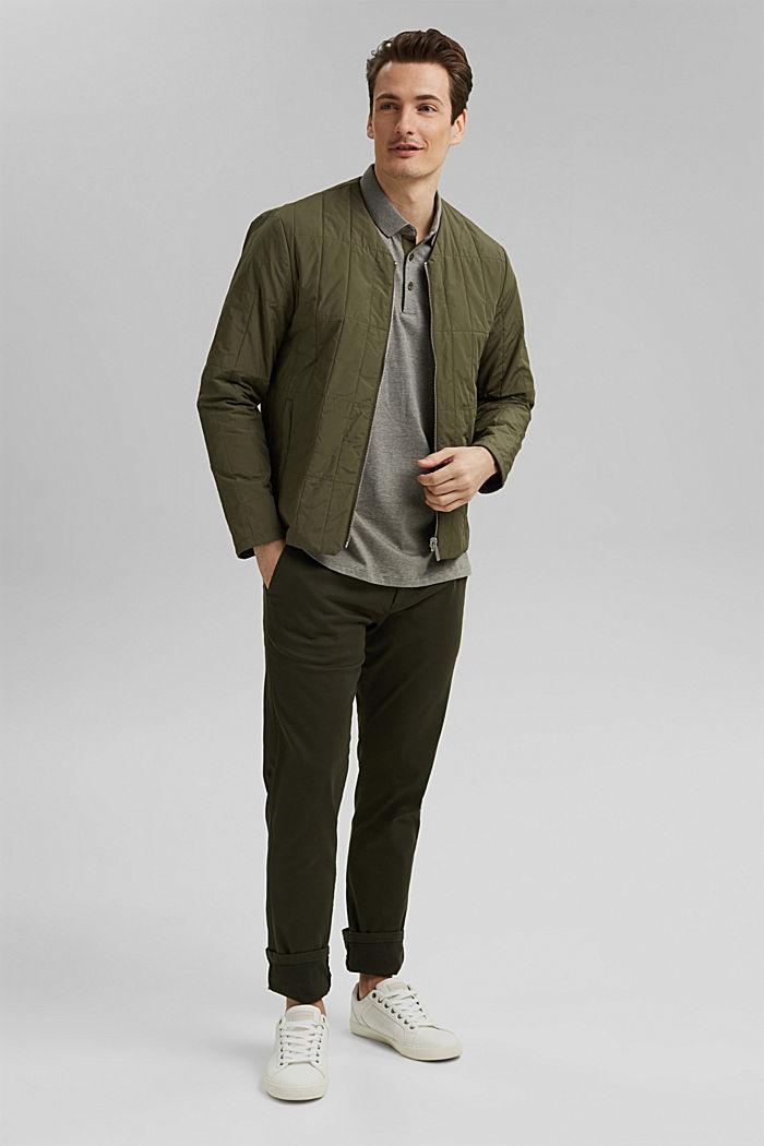 Jersey polo shirt made of 100% organic cotton, DARK KHAKI, detail image number 2