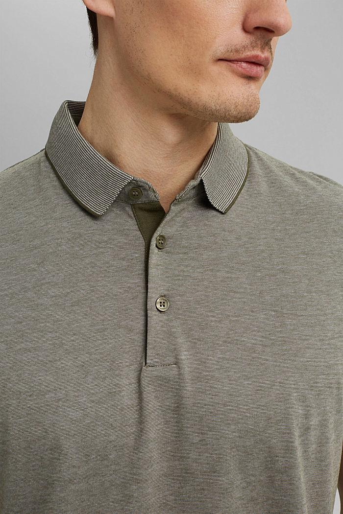 Jersey-Poloshirt aus 100% Organic Cotton, DARK KHAKI, detail image number 1