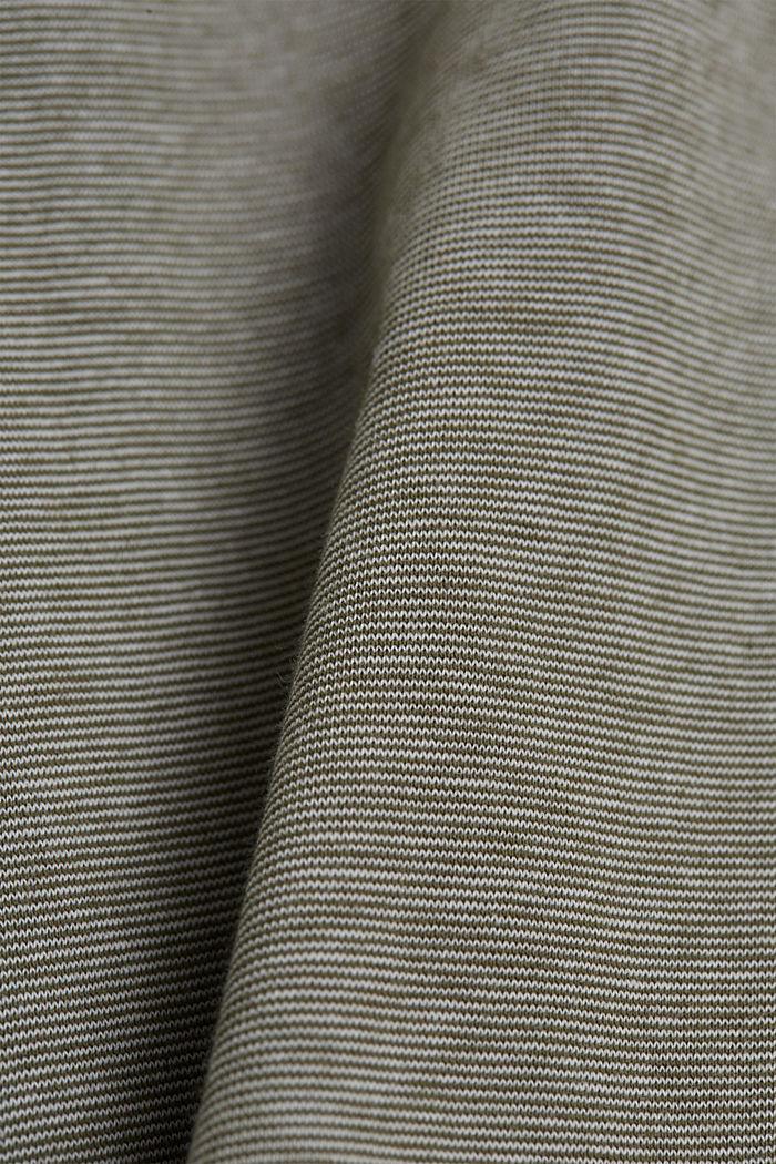 Jersey polo shirt made of 100% organic cotton, DARK KHAKI, detail image number 4