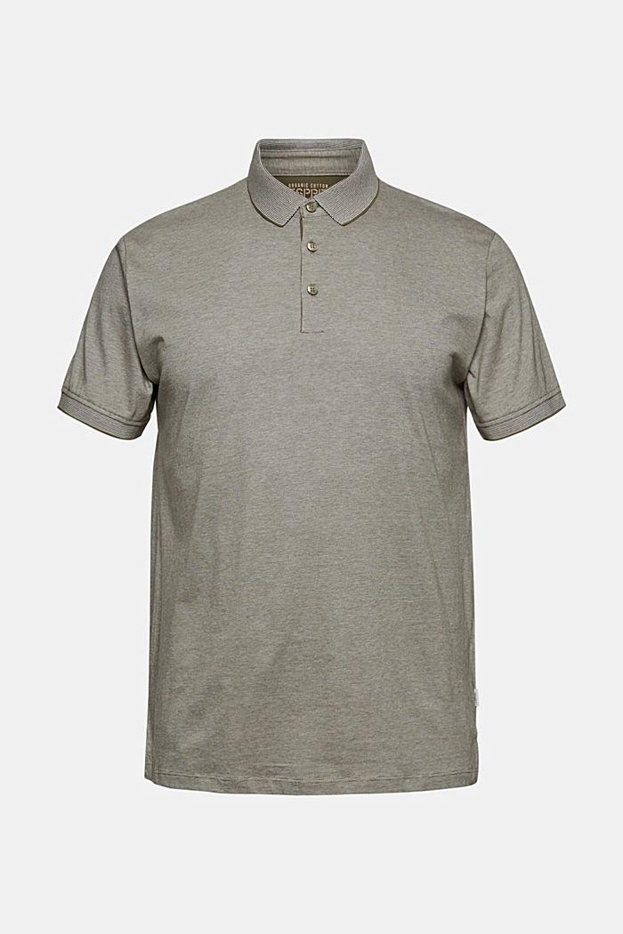 Jersey-Poloshirt aus 100% Organic Cotton, DARK KHAKI, detail image number 6