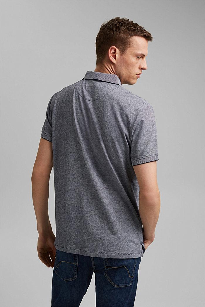 Jersey-Poloshirt aus 100% Organic Cotton, NAVY, detail image number 3
