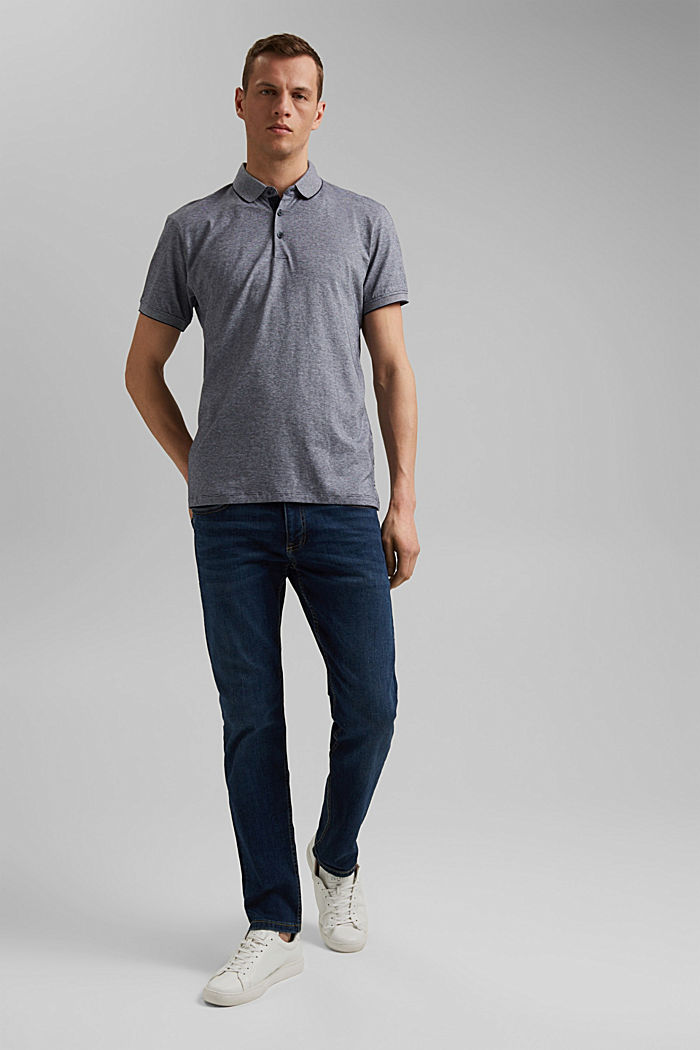 Jersey polo shirt made of 100% organic cotton, NAVY, detail image number 2