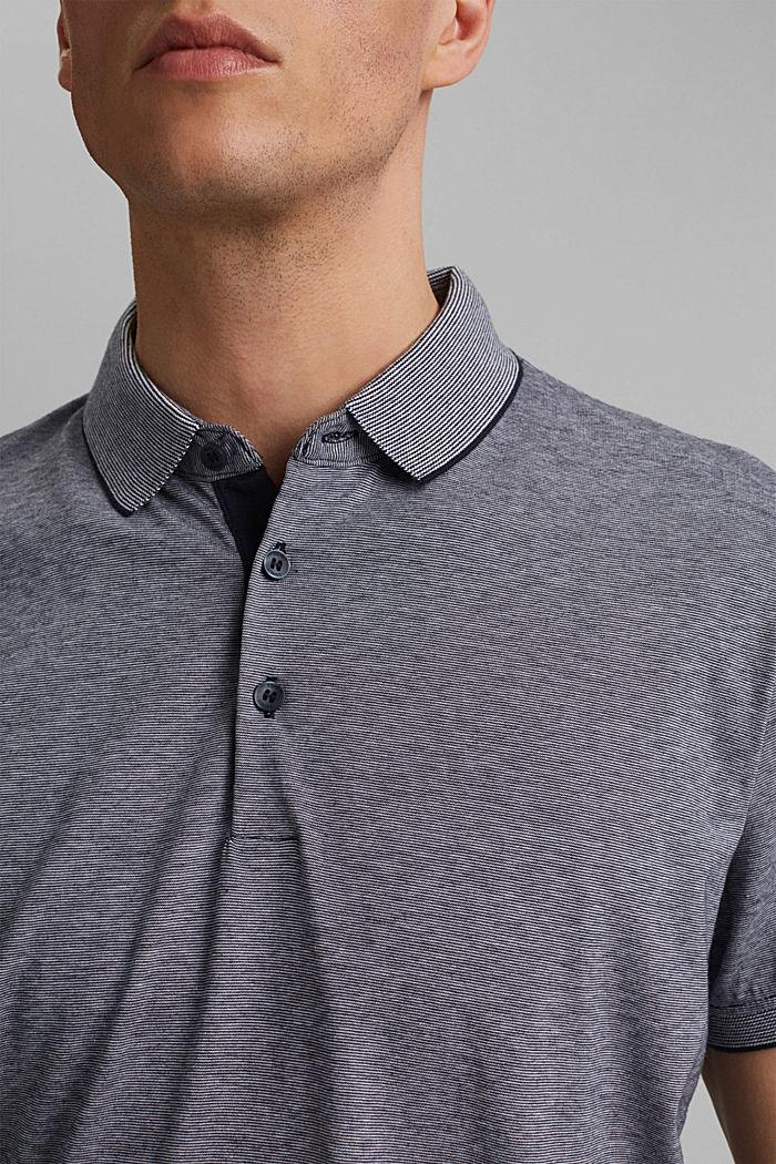 Jersey-Poloshirt aus 100% Organic Cotton, NAVY, detail image number 1