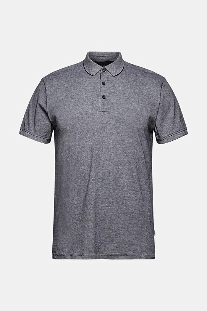 Jersey-Poloshirt aus 100% Organic Cotton, NAVY, detail image number 6